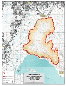 Funny River Fire Map 5-22-2014