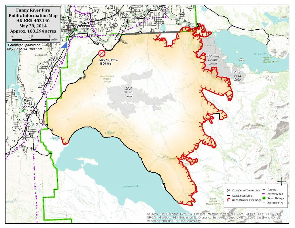 Funny River Fire Map 5-28-14