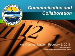 2016_02_02 Key Communicator presentation Collaboration and Communication