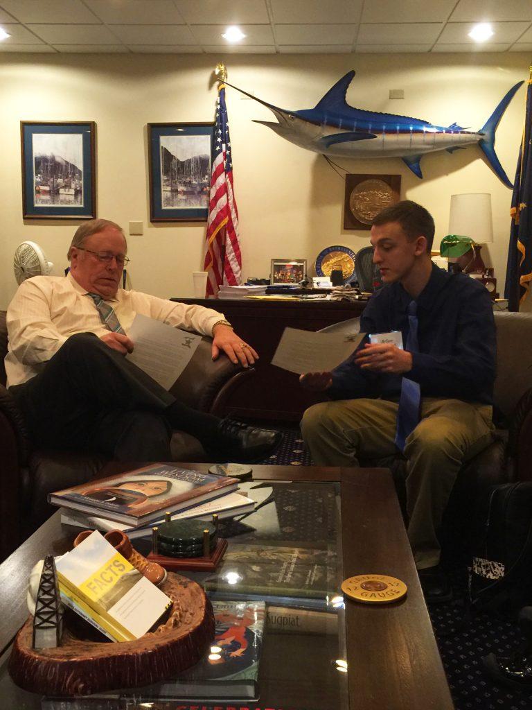 Brian Dusek and Speaker Chenault