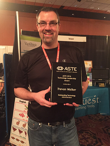 Trevan Walker, ASTE 2016 Administrator of the Year
