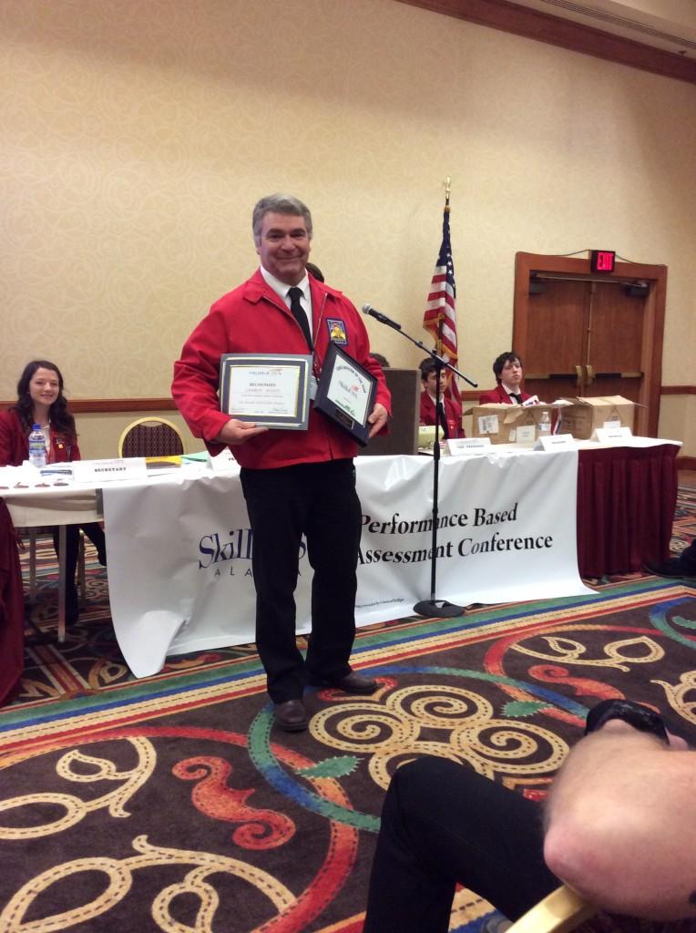 Cam Wyatt, 2016 Alaska State Secondary SkillsUSA Advisor award recipient