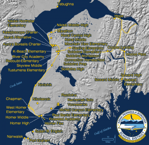 KPBSD schools map 2016