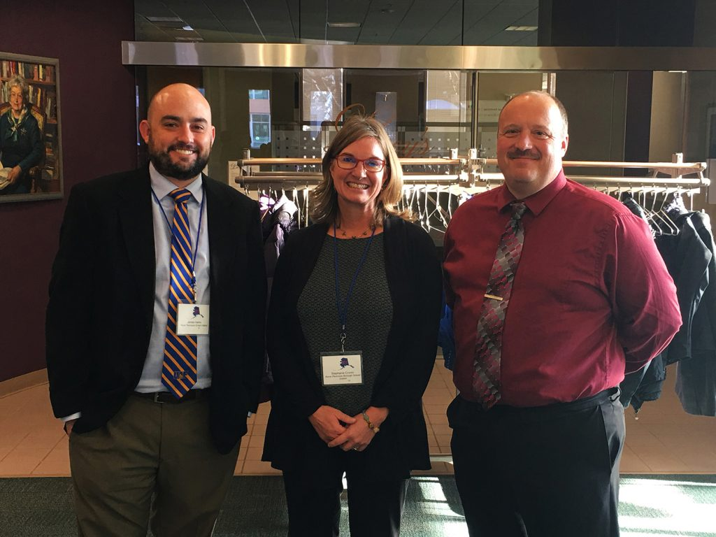 October 22, 2016: James Harris; Stephanie Cronin; KPBSD Superintendent Sean Dusek