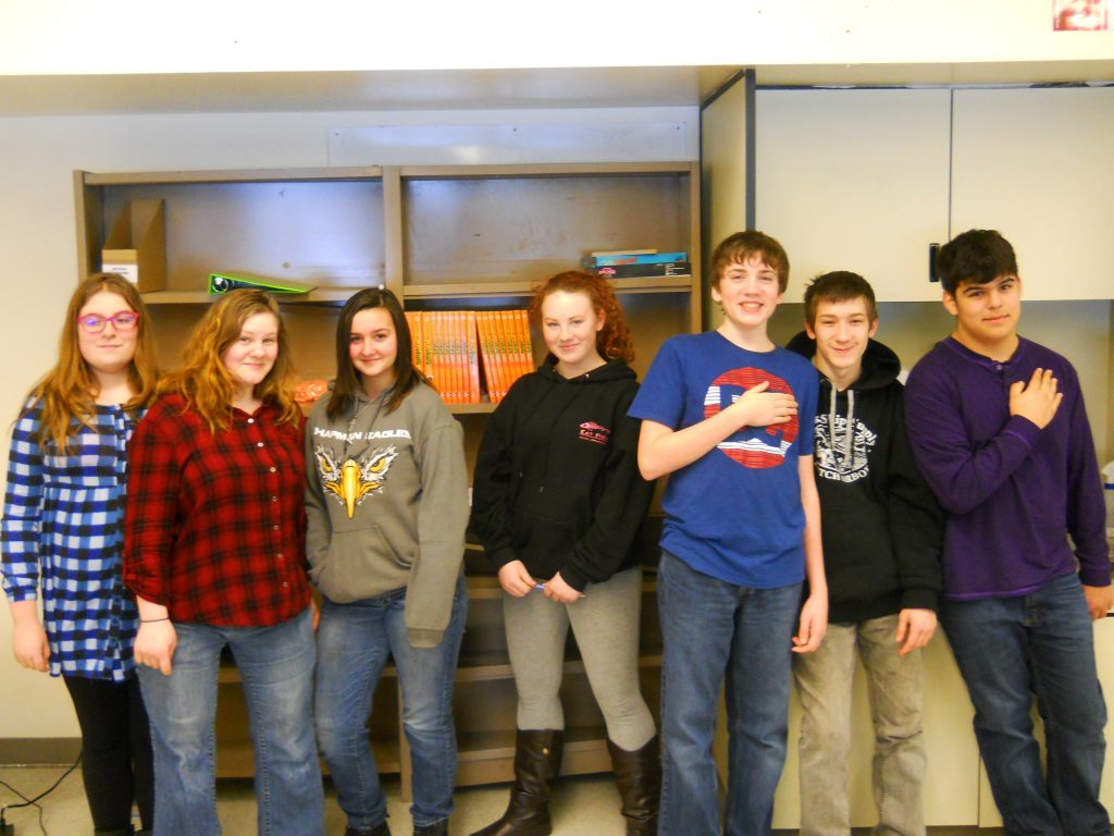 Chapman 8th grade web coding class