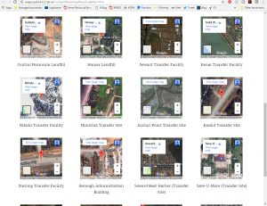 Embedded maps of Kenai Peninsula recycling locations