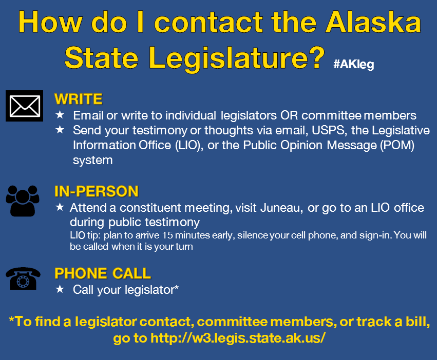 How do I contact the Alaska State Legislature