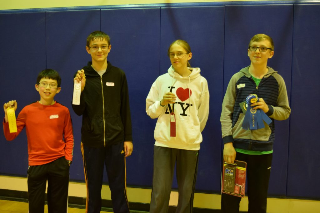 Individual Winners from left 4th place – Sean Raftan, 3rd – Samuel Roberts, 2nd – Larry Dunn, 1st – Hayden Hanson