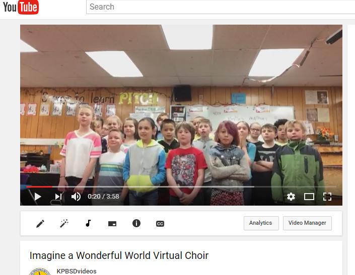 2017 Imagine a Wonderful World virtual choir