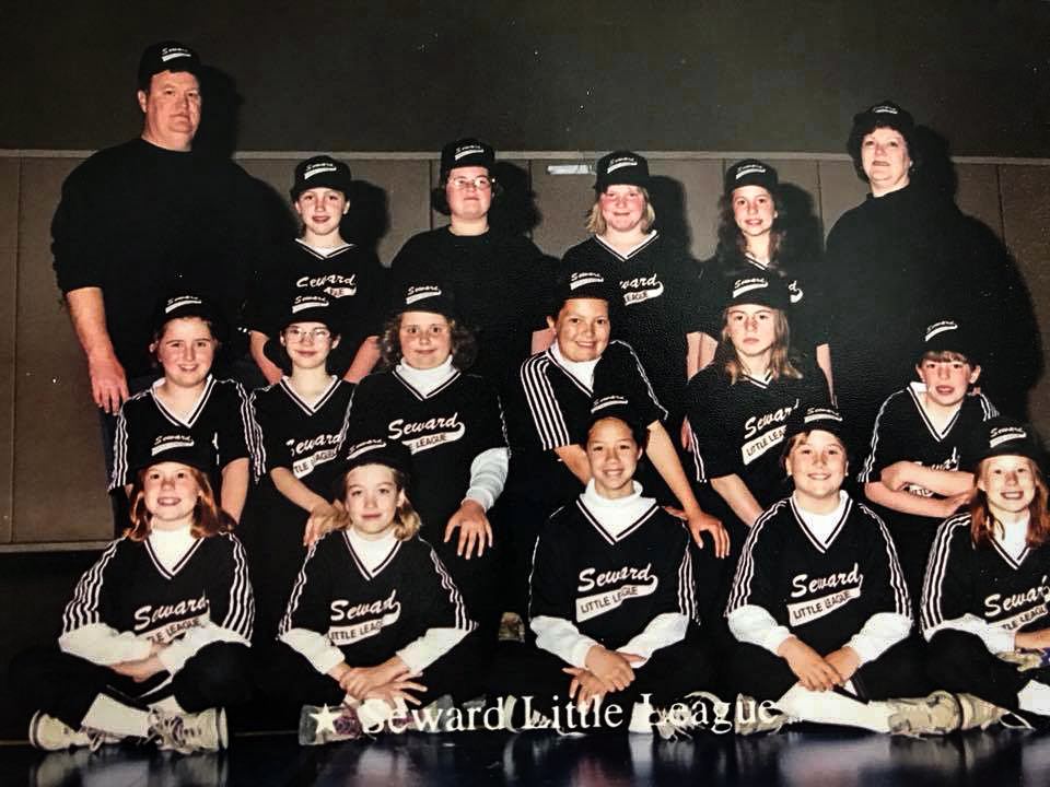 Kristin little league bottom far right -2