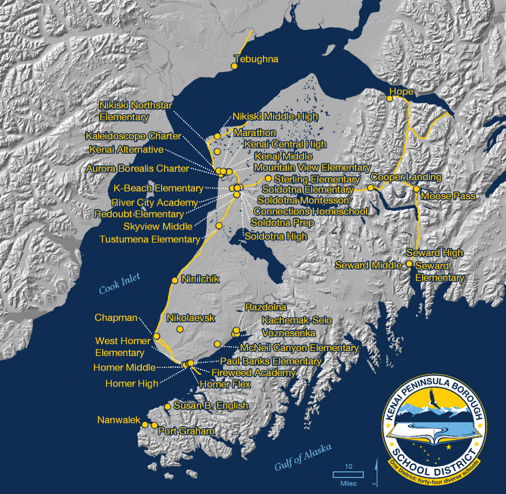 8 KPBSD schools MAP 2016