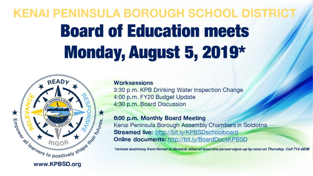 2019-08-05 BOE August meeting