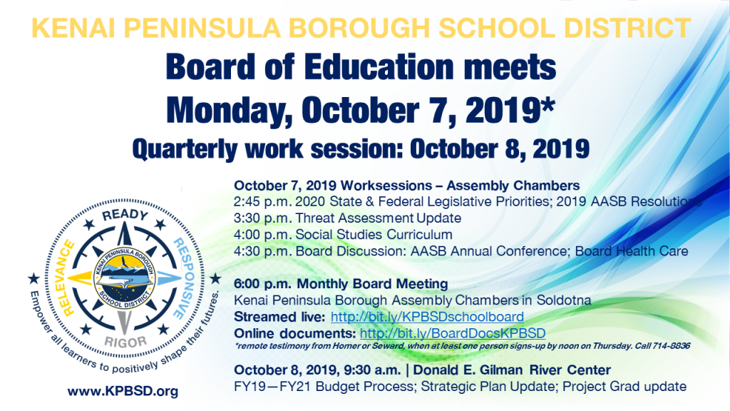 2019-10-7 BOE monthly meeting