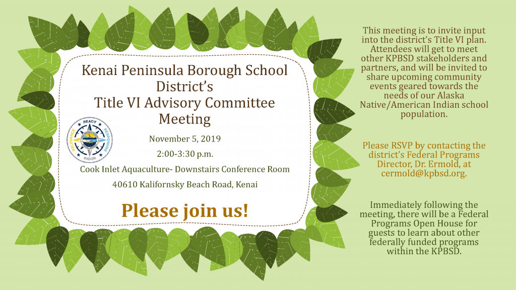 2019-11-5 Title VI Advisory Committee Meeting