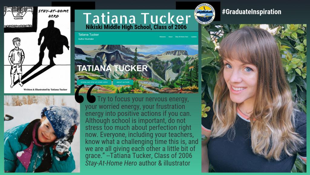 Tatiana Tucker, Class of 2006 inspiration, author of Stay-At-Home Hero