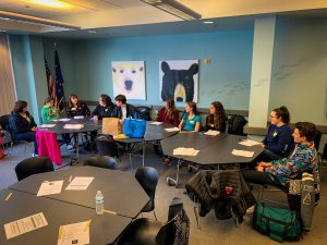"""Students learn Parliamentary Procedures at """"Getting Involved in Local Government"""" breakout session lead by Seward's Ristine Cassagranda."""